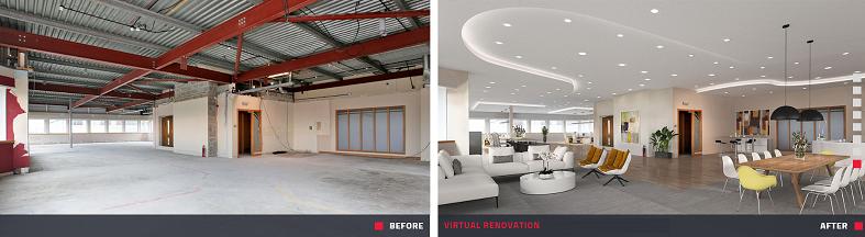 Rénovation Virtuelle d'une hangar